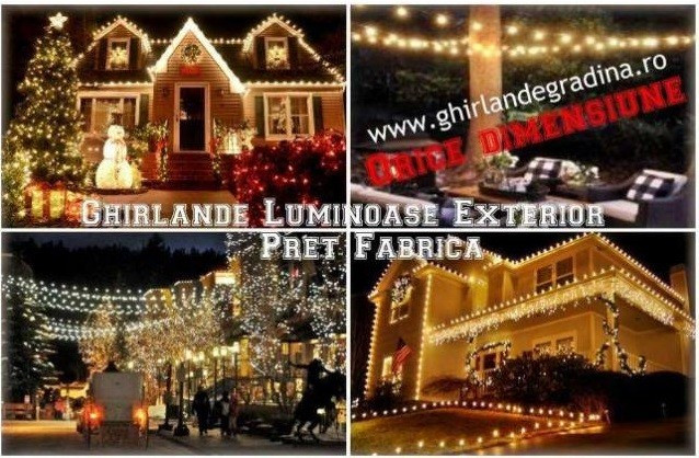 Ghirlande Luminoase Exterior bec/led ORICE MARIME,PRODUCATOR,Instalati