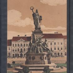 ARAD    STATUIA  MARTIRILOR   1916  POSTA  GERMANA  K.U.K.BRIEFZENSUR  CENZURA, Circulata, Printata