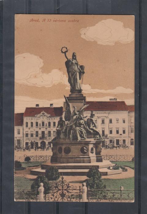 ARAD    STATUIA  MARTIRILOR   1916  POSTA  GERMANA  K.U.K.BRIEFZENSUR  CENZURA