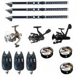 Cumpara ieftin Set pescuit sportiv cu lanseta de 2,7 m Ultra Carp, 3 mulinete, 3 senzori si 3 gute