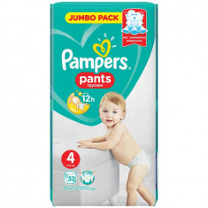 Scutece Pampers Active Baby Pants 4 Jumbo Pack, 52 bucati