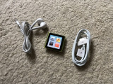 Ipod Nano 6th Gen 8GB IWATCH+cablu+casti Apple(baterie 15 ore vol max), 6th generation, 8 Gb, Verde