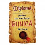 Magnet Diploma pentru cea mai buna BUNICA din lume, lemn, Alexer