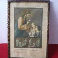ICOANA VECHE LITOGRAFIE 1933