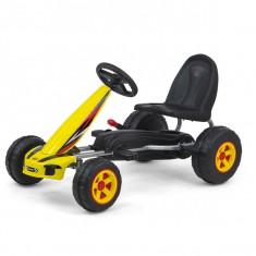 Kart cu pedale pentru copii Viper Yellow