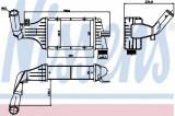 Radiator intercooler OPEL ASTRA G Combi (F35) (1998 - 2009) NISSENS 96788