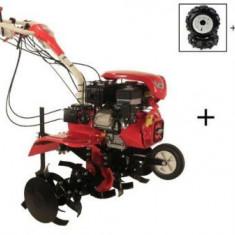 Motocultor Loncin LC1200 (3+1) 8CP cu roti C. + Plug + Rarita + Prasitoare + Roti M.