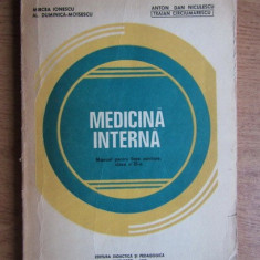 MEDICINA INTERNA MANUAL CLASA XI EDITURA DIDACTICA 1980