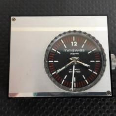 ceas mecanic cu alarma Elvetian MINI SWISS 17 jewels