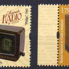 MOLDOVA 2019, Aparate radio de epoca, serie neuzata, MNH, Nestampilat