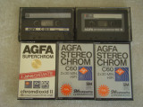 Lot 5 Casete AGFA Chromdioxid CrO2 - Inregistrate o singura data - 74