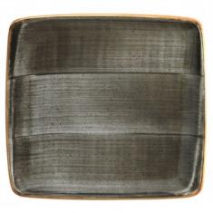 Farfurie patrata din portelan, 22x20 cm, Bonna Space, 010176