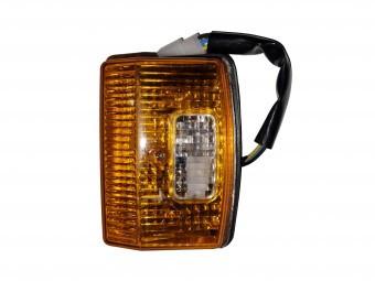 Lampa semnalizare frontala dreptunghiulara alb-galben pentru Tractor U445 si New Holland foto