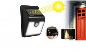 Lampa solara de perete cu senzor de miscare cu 20 leduri