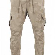 Pantaloni camo cargo jogging pants - nisip-camuflaj Urban Classics 38 EU