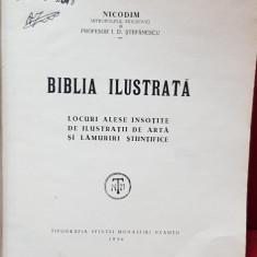 BIBLIA ILUSTRATA. LOCURI ALESE INSOTITE DE ILUSTRATII DE ARTA SI LAMURIRI STIINTIFICE 1936