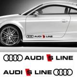 Sticker auto laterale AUDI S LINE (set 2 buc.), 4World