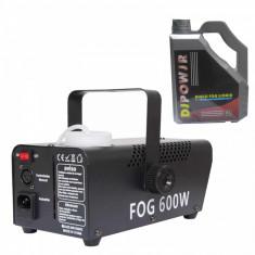 Masina de fum 600 W LED jocuri de lumini Wireless negru lichid 4.5 l cadou