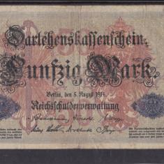 MDBS - BANCNOTA GERMANIA - 50 MARK - 1914