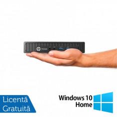 Calculator HP Prodesk 600 G1 DM Mini PC, Intel Core i3-4160T 3.10GHz, 8GB DDR3, 500GB SATA + Windows 10 Home