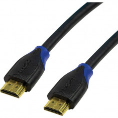 Cablu video Logilink HDMI Male - HDMI Male v2.0 7.5 m Negru