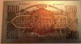 500 Lei 1944 Comandamentul Armatei Rosii bancnota rara polimer