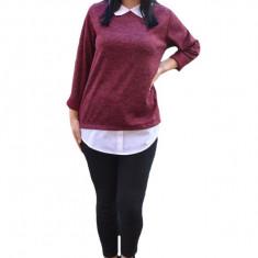 Bluza Ania casual-bussines din tricot ,nuanta de marsala