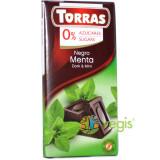 Ciocolata Neagra cu Menta (Fara Zahar, Fara Gluten) 75g