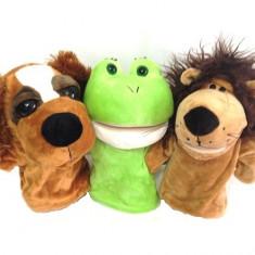Set 3 marionete de mana pentru teatru de papusi
