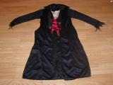 costum carnaval serbare conte vampir dracula print pentru copii de 9-10 ani
