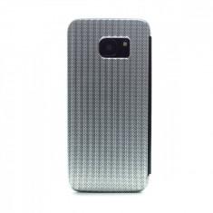 Husa hard book Samsung Galaxy S7 Edge Argintiu
