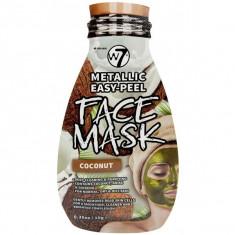 Masca Metalica cu Cocos W7 Metallic Easy Peel Vitamin Coconut Face Mask 10 g