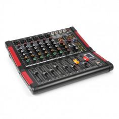 Power Dynamics PDM-M604, mixer muzical, 6 intrări de microfon, procesor multi-fx 24-biti