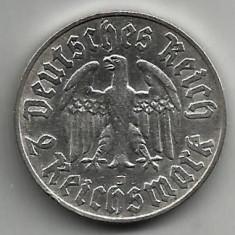 GERMANIA 2 MARCI REICHSMARK 1933 MARTIN LUTHER ARGINT STARE EXCELENTA