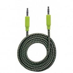 Cablu audio Manhattan MHT394130 Jack 3.5 mm Male - Jack 3.5 mm Male 1m Negru / Verde
