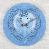 Ceas de perete din sticla, Inima de Unicorn - Anne Stokes