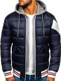 Geacă de iarnă sport bleumarin Bolf JK395