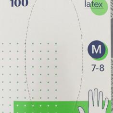 Manusi chirurgicale latex, unica folosinta, marime M, 100 bucati