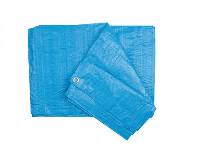 Prelata cu Inele Latime 6m, Lungime 8m, Greutate 90g/mp, Culoare Albastru