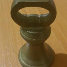 Greutate veche din bronz masiv pt cantar englezesc