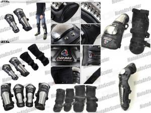 PROTECTII Moto METAL INOX = Genunchiere MOTO Cotiere MOTO