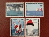 Congo - Timbre sport, jocurile olimpice 1984, nestampilate MNH, Nestampilat
