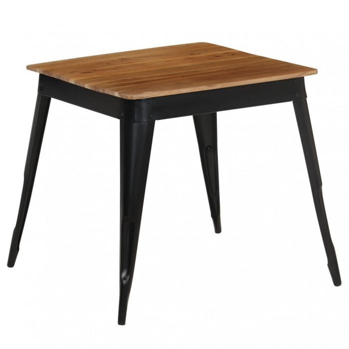Masă de bucătărie, lemn masiv de acacia, 75 x 75 x 76 cm