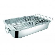 Tavă pentru cuptor din inox, cu grill, 25x20x5 cm, Grunberg