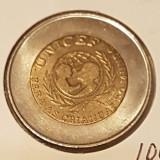 c45 Portugalia 100 escudos 1999 UNICEF cu eroare