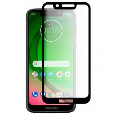 Folie Sticla Full Cover Premium pentru Motorola Moto G7 Play 5D Full Glue Negru, Global Technologies