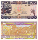 GUINEEA 100 francs guineens 2015 UNC!!!