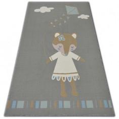 Covor pentru copii Loko Șoarece gri impotriva alunecarii, 120x170 cm