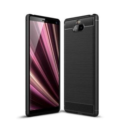 Husa Sony Xperia 10 TPU Carbon Neagra foto