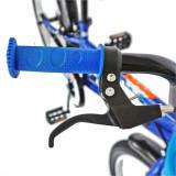 Bicicleta copii 20 Velors V2001A cadru otel albastru negru